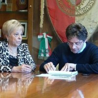 Sindaco Menna e assessore Lina Marchesani
