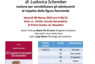 """""""22,5 grammi di surrogato (di cioccolato)"""" di Ludovica Schember alle Rossetti"""
