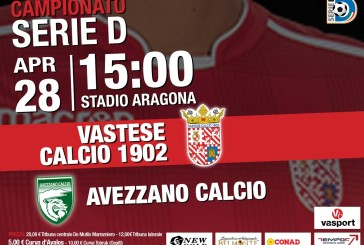 Per il match Vastese-Avezzano 70 biglietti ai tifosi ospiti