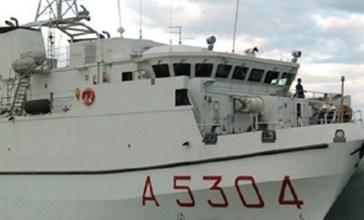 A Vasto arriva la nave della Marina Militare Aretusa