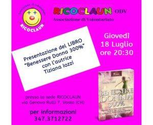 """Oggi la presentazione del libro """"Benessere Donna 300%"""" di Tiziana Iozzi"""