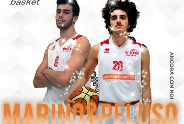 Vasto Basket, Andrea Marino e Giovanni Peluso vestiranno ancora la canotta Biancorossa