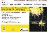 """A Casalbordino sabato 20 luglio presentazione romanzo giallo """"M'avanza un cadavere"""" con l'autore Natalfrancesco Litterio"""