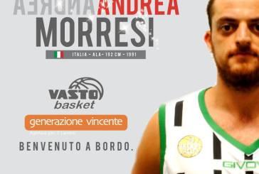 Vasto Basket, arriva Andrea Morresi