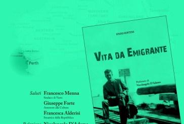 """Enzo Iustini (Perth) presenta a Vasto il suo volume """"Vita da Emigrante"""""""