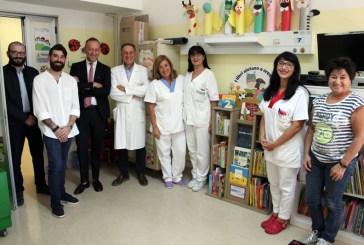 Alla Pediatria di Vasto una bibliotechina in dono dalla Metamer