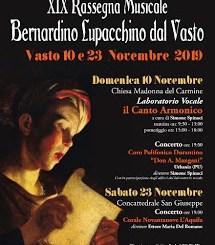 """Stasera il secondo e ultimo appuntamento della Rassegna Musicale """"Bernardino Lupacchino dal Vasto"""""""