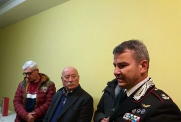 Lo scambio degli auguri dei soci dell'Associazione Nazionale dei Carabinieri