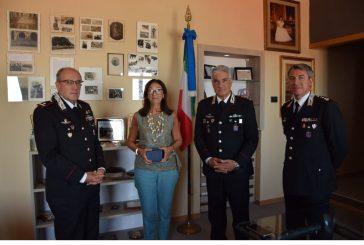 Il Prefetto de L'Aquila Cinzia Teresa Torraco in visita al Comando Legione Carabinieri Abruzzo e Molise