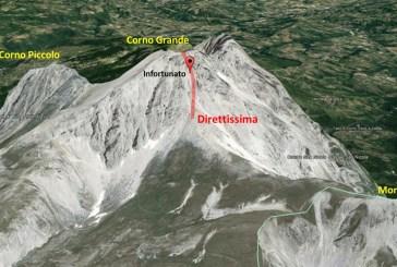 Donna infortunata sul Corno Grande, in corso l'intervento del Soccorso Alpino