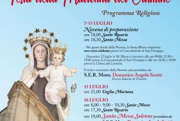 Vasto, torna la Festa della Madonna del Carmine