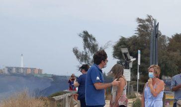 Incendio a Punta Aderci, la richiesta degli ambientalisti: