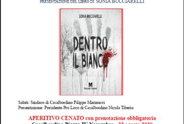 """Casalbordino, alle 19 la presentazione del libro """"Dentro il bianco"""" con l'autrice Sonia Bucciarelli e aperitivo cenato"""