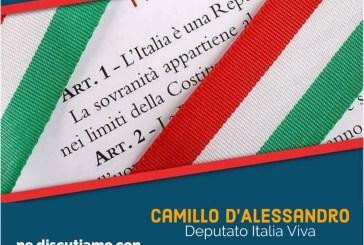 A Cupello un incontro pubblico sul Referendum Costituzionale con Camillo D'Alessandro (Italia Viva) e Pietro Smargiassi (M5S)