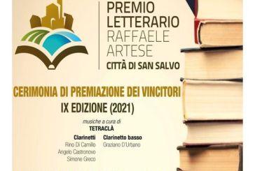 """San Salvo, alle 21 la finale della nona edizione del premio letterario """"Raffaele Artese"""