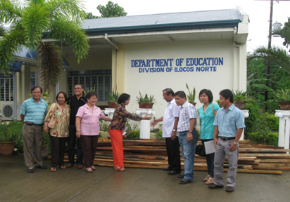 DENR. DepEd officials in the city headed by School Division Superintendent Dr. Araceli C. Pastor and Asst. Schools Division Superintendent, Officer In-Charge Dr. Froserfina J. Bravo, laudably received the donation from PENRO Juan P. de los Reyes, Jr. and CENR Officer Florencio Soliven, Jr. of CENRO-Laoag City.
