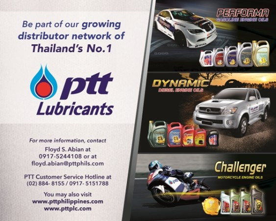 PTT Lubes distributor AD - 10in x 8in - FA-02