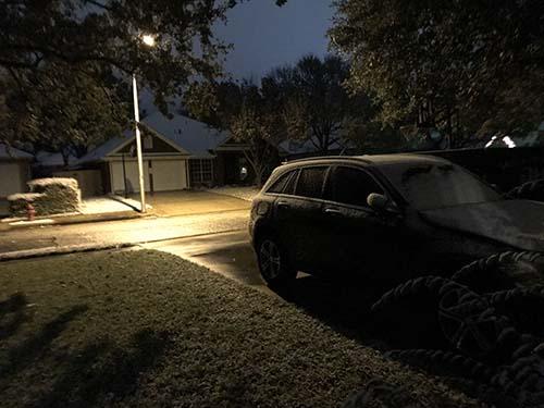 snow on a car