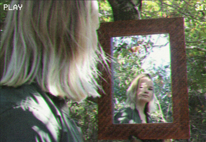 Girl inside mirror