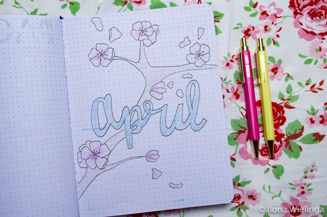 Bullet journal inspiratie April