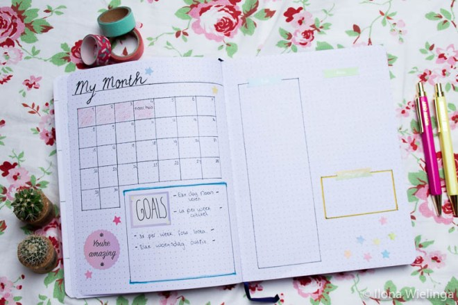 bullet journal April maandoverzicht month