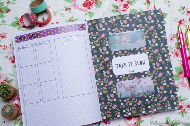 bullet journal weekoverzicht inspiratie