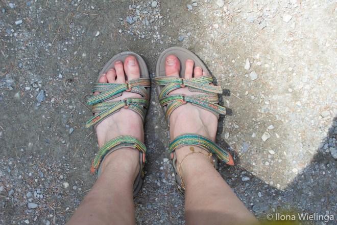 krimmler wasserfalle outfit sandalen