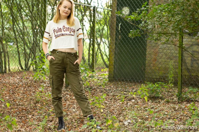 outfit baggy legerbroek cropped top 1