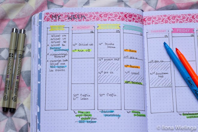 bullet journal 1 plannen