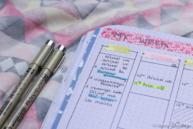 bullet journal 2 plannen