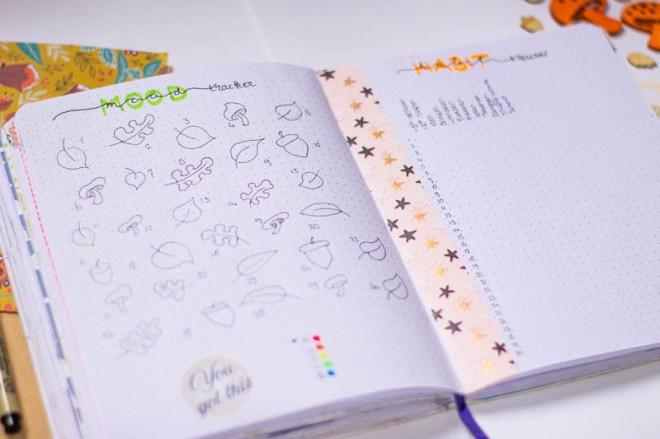 bullet journal november 3 trackers mood habits