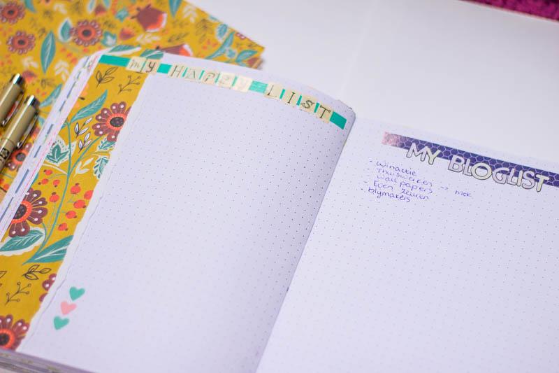 bullet journal november 4 happy list bloglist