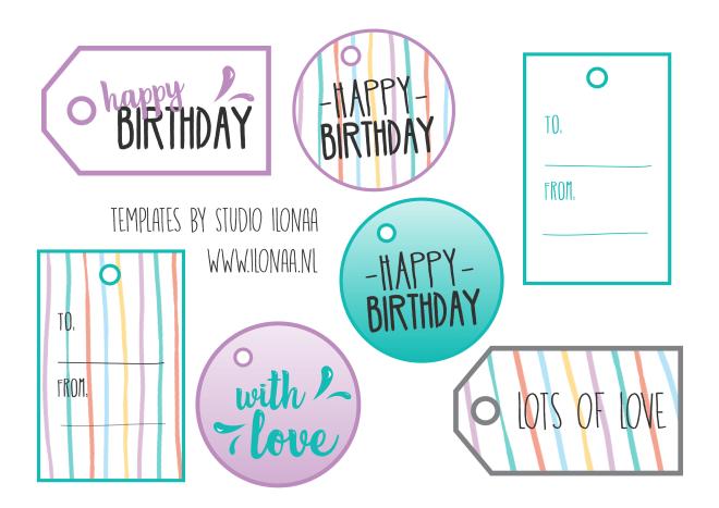 verjaardag cadeaulabels gratis printables