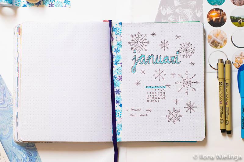 bullet journal set-up januari 2020