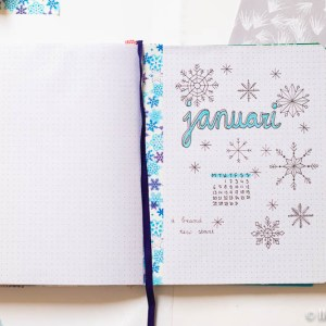 bullet journal set-up januari 2020