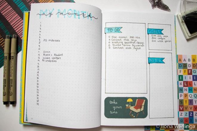 bullet journal februari my month maandoverzicht
