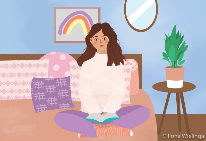 omgaan met negatieve gedachten 2 illustratie studio ilonaa
