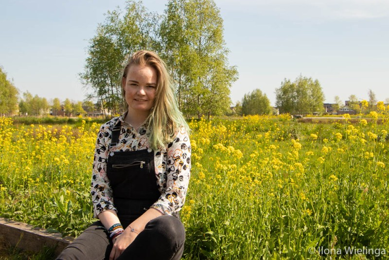 overal bloemen outfit blouse 2