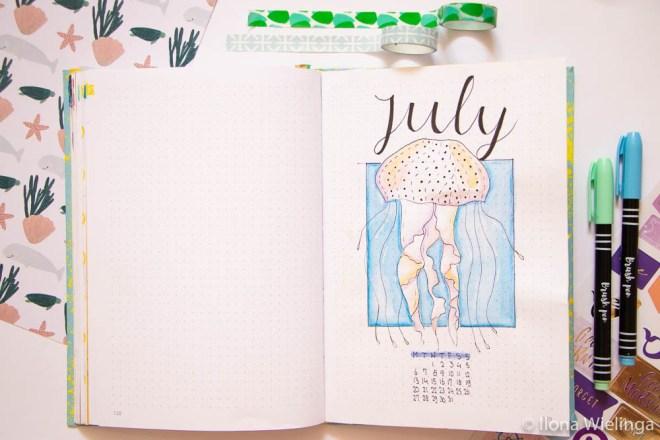 bullet journal set up juli zee 1