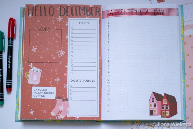 bullet journal december 2