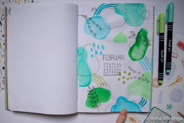 bullet journal februari 1