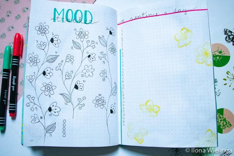 bullet journal maart bloemen 4