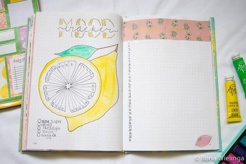 bullet journal juli citroenen lemons 2