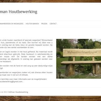 Hofmanhoutbewerking Website www.hofmanhoutbewerking.nl