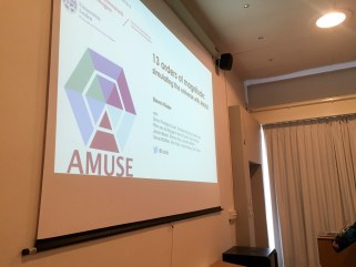 AMUSE logo for astrophysics group in Leiden
