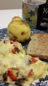 omlett paprika ja seentega