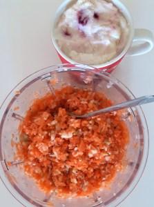 Õuna-porgandi salat, jogurtijäätis