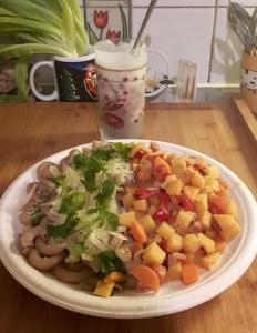 Makaronid aedviljadega + marjamaius