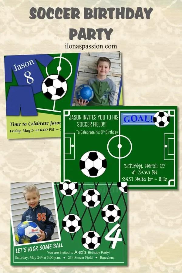 Soccer Birthday Party Ilonas Passion