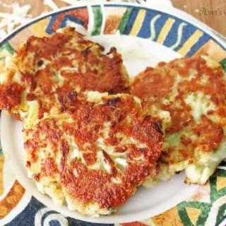 Parmesan Cauliflower Fritters